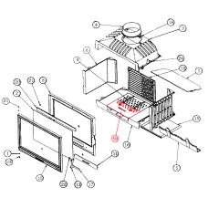 ruszt przód  - nowsza wersja do wkładu kominkowego Godin 660101