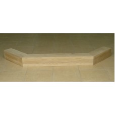 belka dębowa do kominka - narożna 135° duża