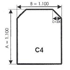 szyba hartowana pod piec kominek C4